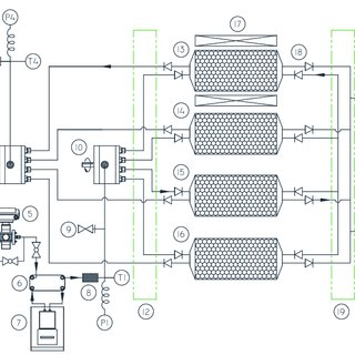 Schematic diagram of the hydraulic system: (1) reservoir