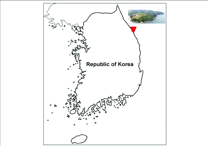 Geologic location of the Geumjin spring waters sampled in