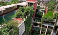 The rooftop garden of the high-rise building | Download ...