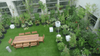 The rooftop garden of a high-rise building | Download ...