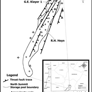 Structure contour map of the Oriskany Sandstone in the