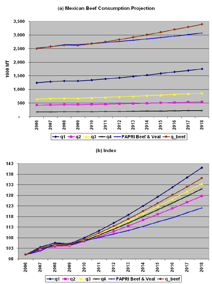 hight resolution of mexican beef consumption projection