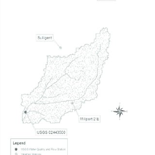 Location of USGS and weather stations used in this study