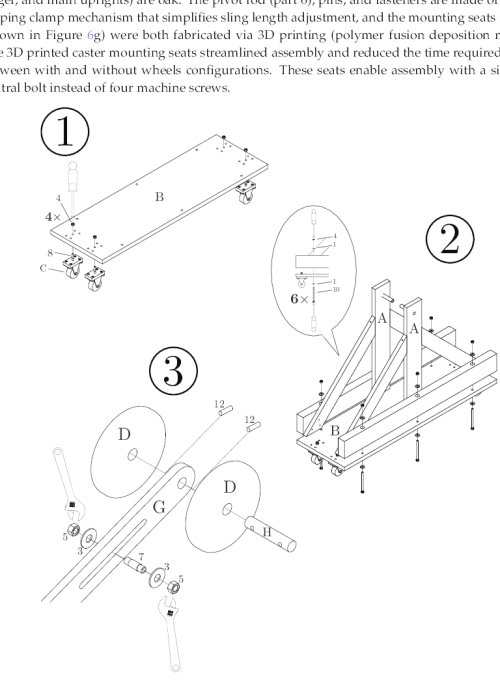 small resolution of drawings illustrating steps 1 3 in the assembly instructions step the following diagram illustrates the model of the trebuchet to use