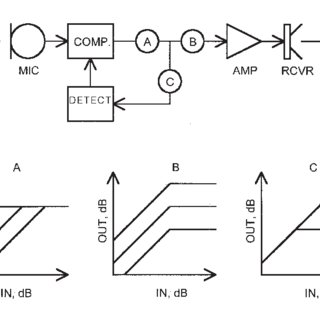 Block diagram of a digital hearing aid inserted in the ear