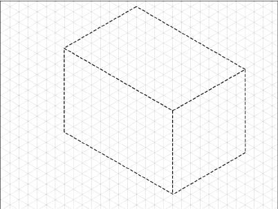 Creation of the construction box for the isometric