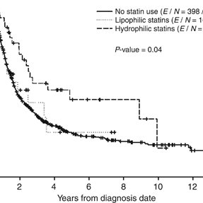 Kaplan–Meier curve for PFS comparing H-statin users, L