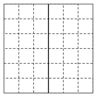 A timelike plaquette in a cubical lattice. The group