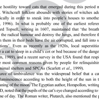 (PDF) Domestication and history of the cat