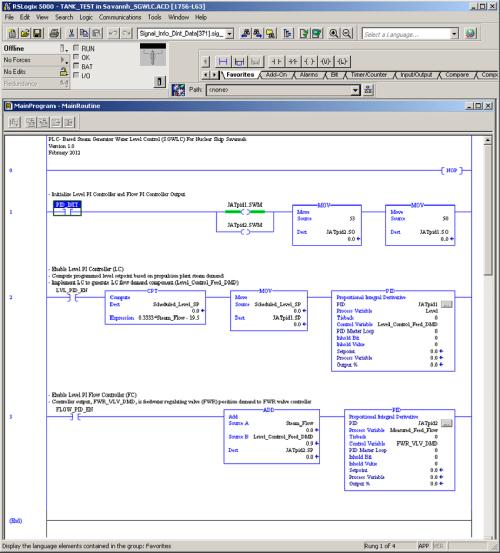 small resolution of allen bradley plc implementation of savannah 3 element steam generator water level control