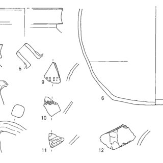 Aardewerk uit de oudste kuilfase. 1-16: Maaslands wit