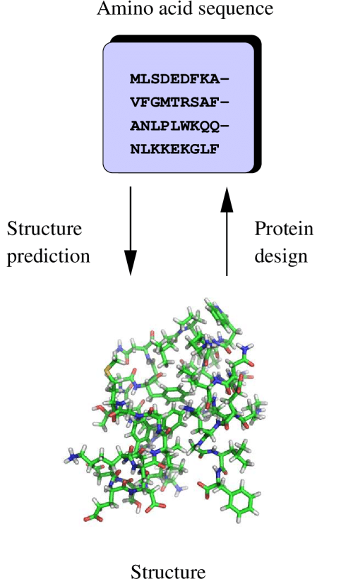 small resolution of 1 protein structure prediction and protein design