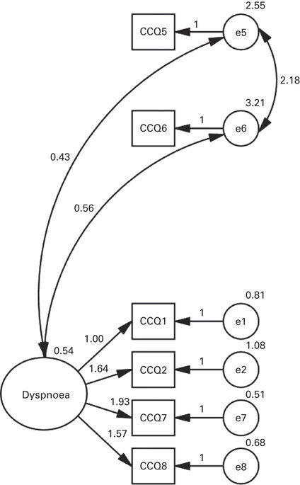 Best-fitting model from the confirmatory factor analysis
