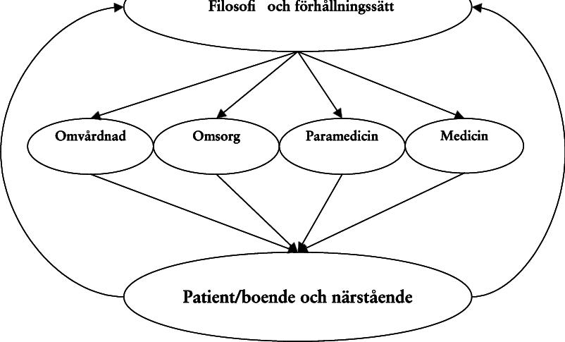 Figur 3 Förslag på modell för omvårdnad som bygger på ett