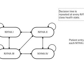 Decision tree and Markov model structure. NYHA, New York