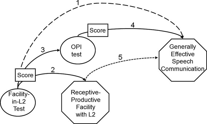 Direct and mediated links from facility-in-L2 tests to non