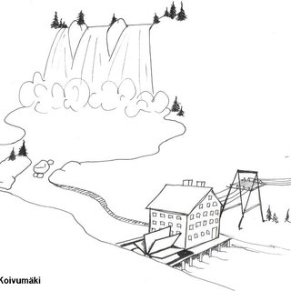 Hydro Power Plant-metaphor contains four successive