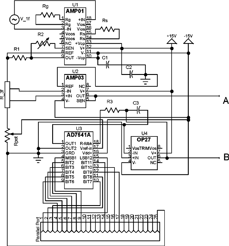 The circuit diagram for a homemade electronic box for a 3