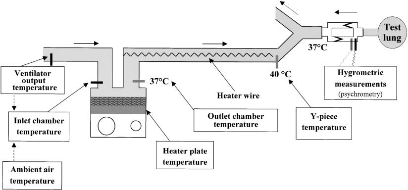 Diagram of the temperature regulation system of a heated