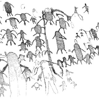 Duelling bowmen in the Sura style. Cave of the Beasts