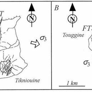 Carte tectonique de la partie nord du massif du Siroua