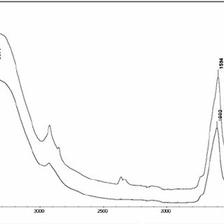 FTIR spectra of EPS M1 before and after copper sorption