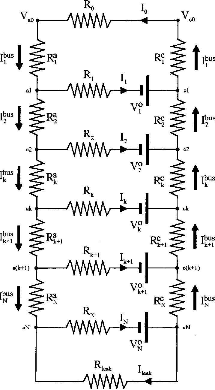 hight resolution of electric circuit model of base tube current collectors
