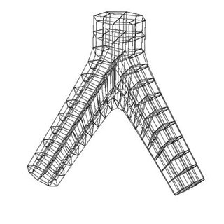 The deposition fraction in the trachea (0), first branch