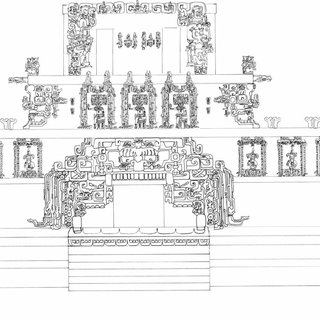 Hypothetical reconstruction of Temple 22 by Tatiana