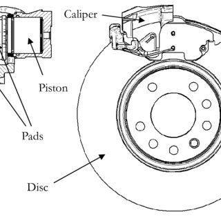 Disc brake assembly with a single-piston floating caliper