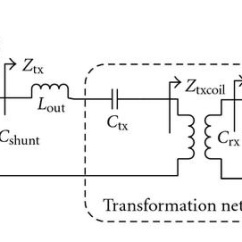 Wireless Power Transmission Circuit Diagram Double Light Switch Wiring Nz Simplified Schematic Of Transfer System Using Series Parallel Transformation Network And Class E