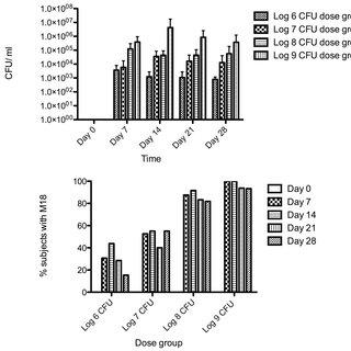 Relative adhesive abilities of Streptococcus salivarius