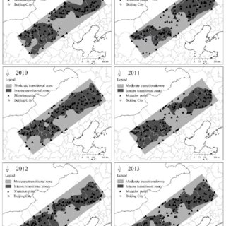 Spatial distribution of ecosystem services indicators