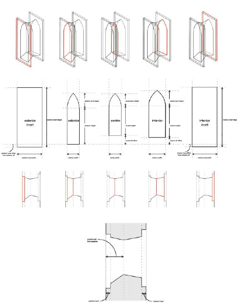 Various examples of round-headed and pointed arch
