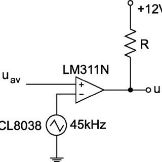 PWM-circuit: triangular generator (ICL8038) and comparator