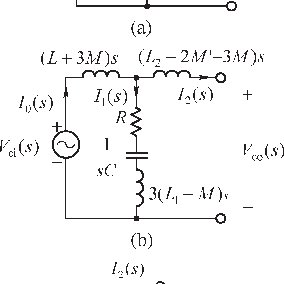 Finding the equivalent circuit without mutual inductance