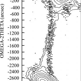 XRD (002) and (102) rocking curves of AlGaN epilayer
