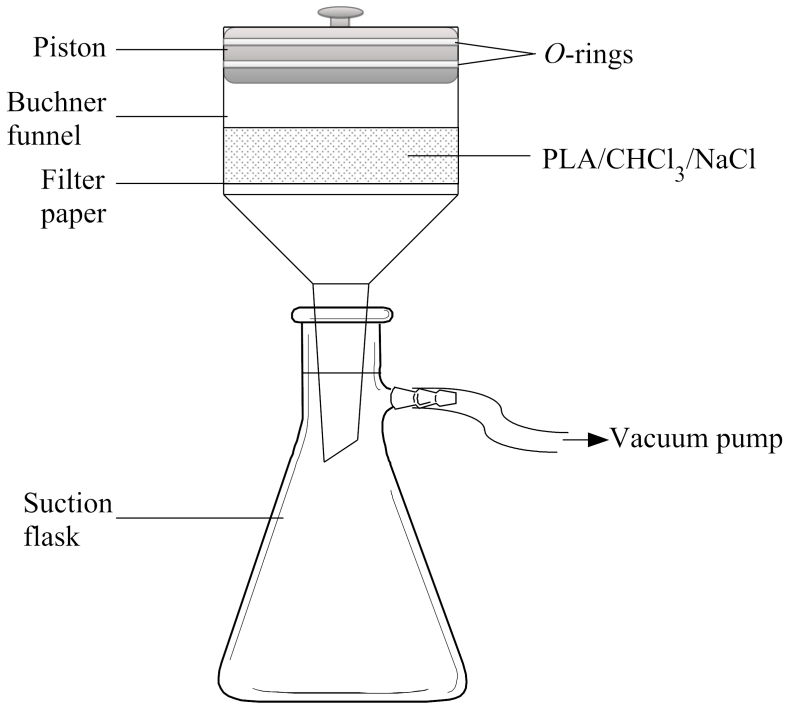 Schematic diagram of the apparatus used for the scaffolds