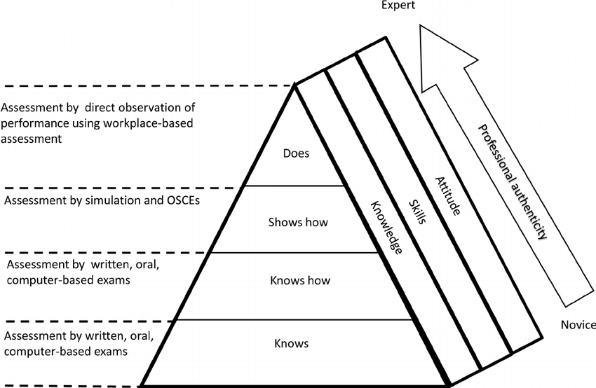 Miller's pyramid of clinical competence Modified from