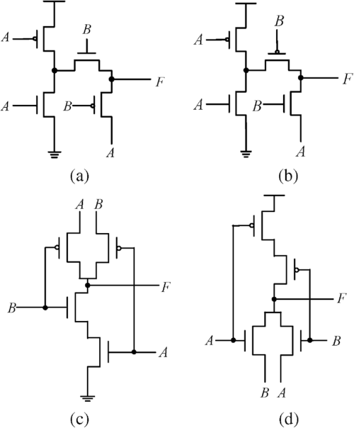 small resolution of 4 transistor xor xnor circuits