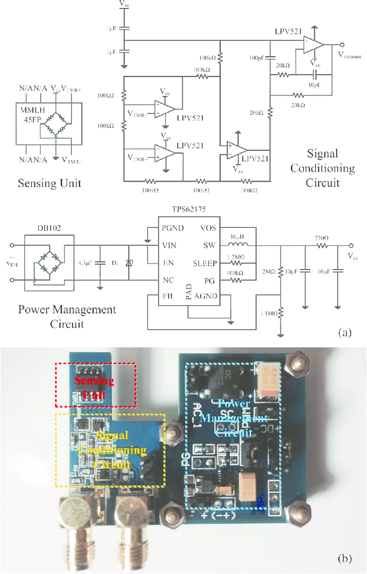 medium resolution of design of self powered tmr current sensor a schematic circuit diagram and