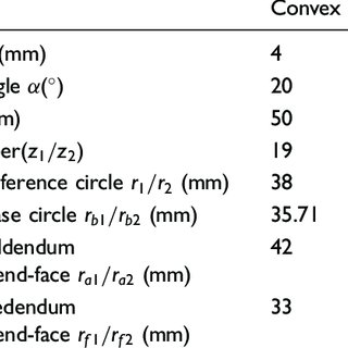 Result of the contact analysis of a cylindrical spur gear