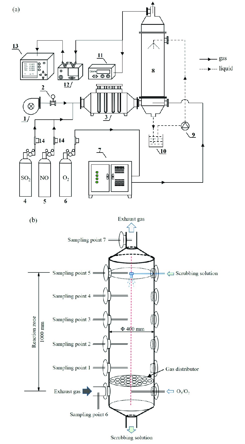 (a) Schematic diagram of our experimental setup: 1