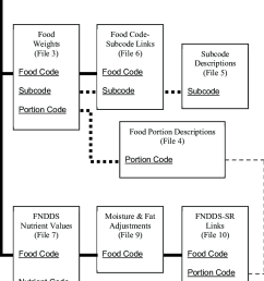 diagram of usda food and nutrient database for dietary studies files and interrelationships file number in [ 777 x 1257 Pixel ]