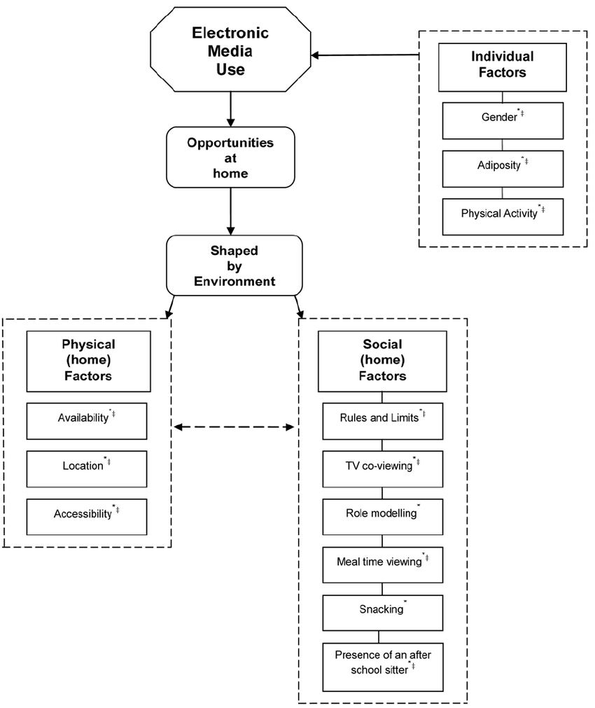 medium resolution of  factors influencing children s electronic media use at home download scientific diagram