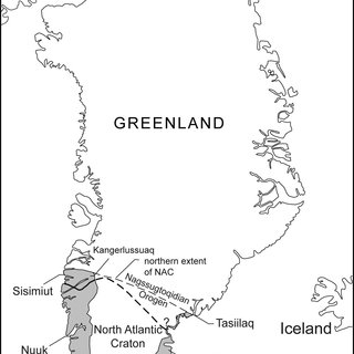 (a) Northeastwards view of the Isua BIF at the Inland ice