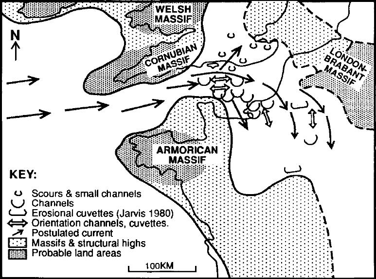 paléogéographie du Crétacé supérieur et orientation des