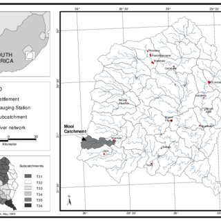Okavango River Basin including all main tributaries and