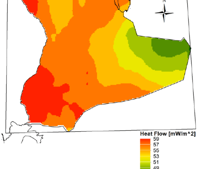 Modeled Heat Flow Mw M 2 In The Rubal Khali