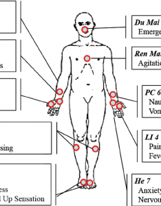 Acupuncture points hand out the figure illustrates seven as being distributed to patients listed symptoms indicate key also rh researchgate